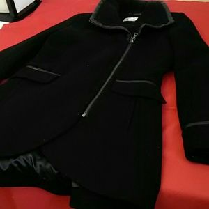 Trina Turk Wool Blend Stylish Coat Size 10